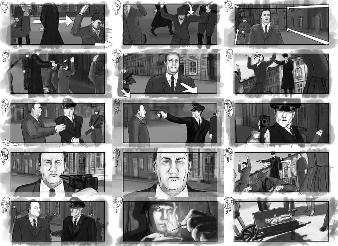 Storyboard of shootingscripts